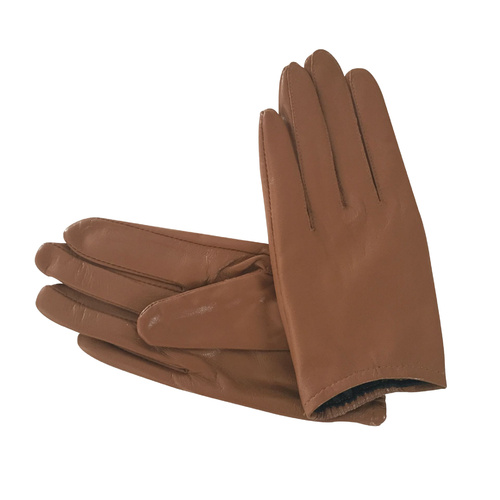 Gloves/Leather/Full - Tan