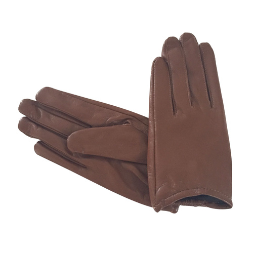 Gloves/Leather/Full - Brown [Size: Small (17cm)]