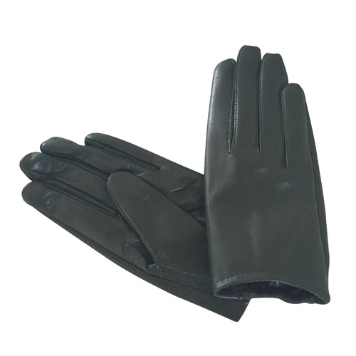 Gloves/Leather/Full - Dark Green [Size: Small (17cm)]