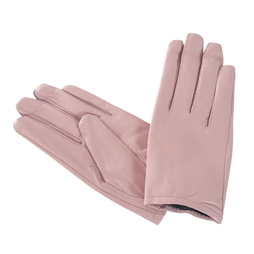 Gloves/Leather/Full - Pink Light