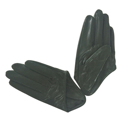 Gloves/Driving/Leather - Dark Green [Size: Small (17cm)]