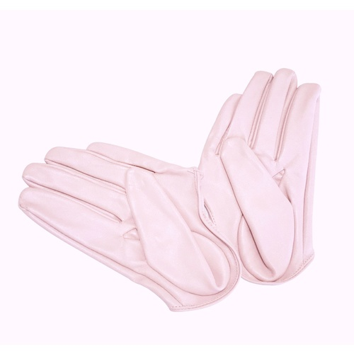 Glove/Driving/Plain - Pink