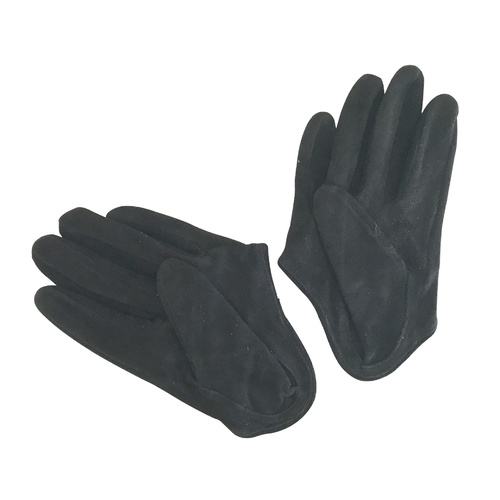 Gloves/Driving/Leather/Suede - Black