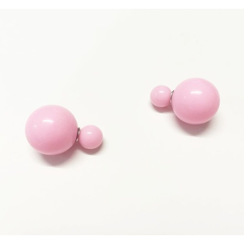 Earring/Double Bubble - Gloss Pink
