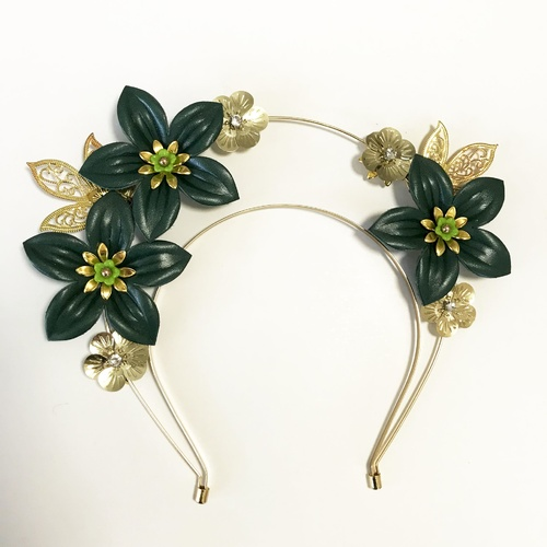 Halo Headband - Green/Gold