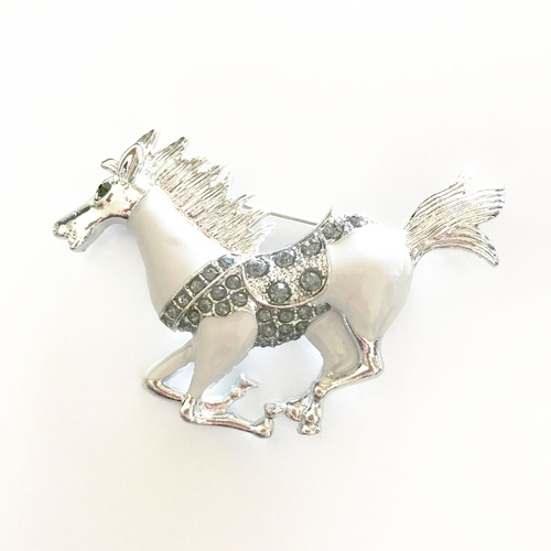 Brooch/Horse.01 - White