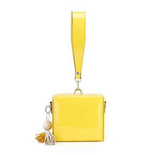 Clutch/Square/Patent - Yellow