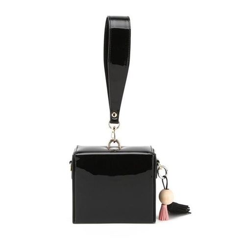 Clutch/Square/Patent - Black