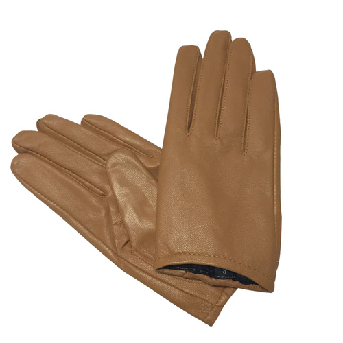 Gloves/Leather/Full - Camel [Size: Small (17cm)]