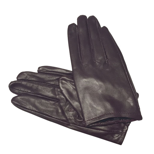 Gloves/Leather/Full - Wine