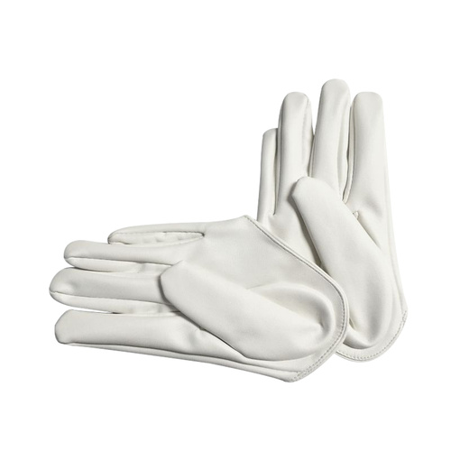 Glove/Driving/Plain - White