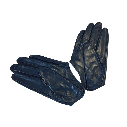 Gloves/Driving/Leather - Navy