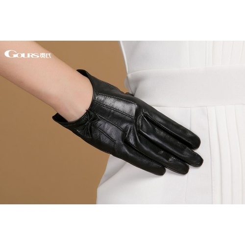 Gloves/Leather/Style 4/Small - Black