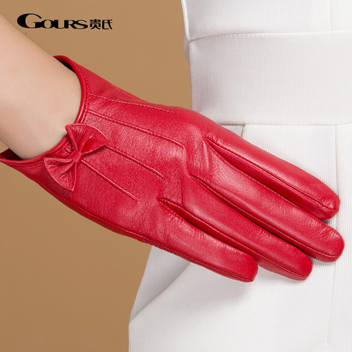 Gloves/Leather/Style 4/Small - Red