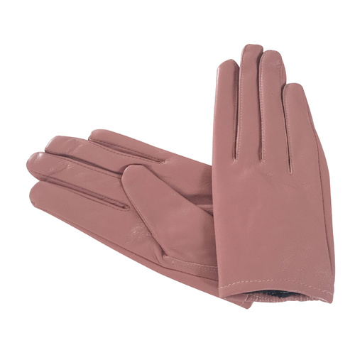 Gloves/Leather/Full - Dusty Pink [Size: Small (17cm)]