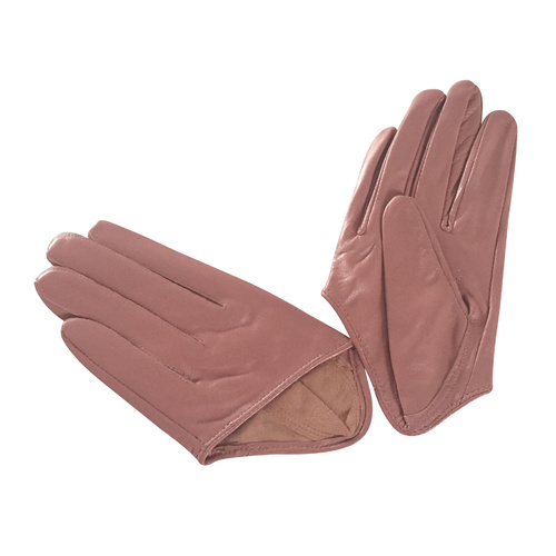 Gloves/Driving/Leather - Dusty Pink
