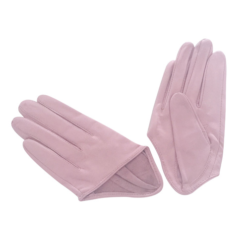 Gloves/Driving/Leather - Pink Light
