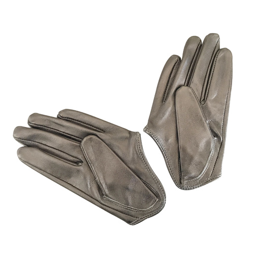 Gloves/Driving/Leather - Pewter