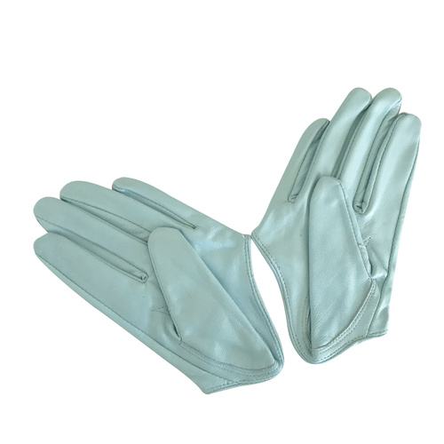 Gloves/Driving/Leather - Blue
