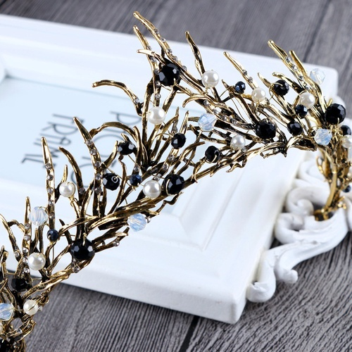 Crown/Tiara/Style 1 - Gold/Black