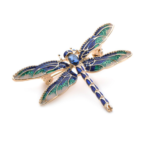 Brooch/Dragonfly.01 - Royal/Emerald