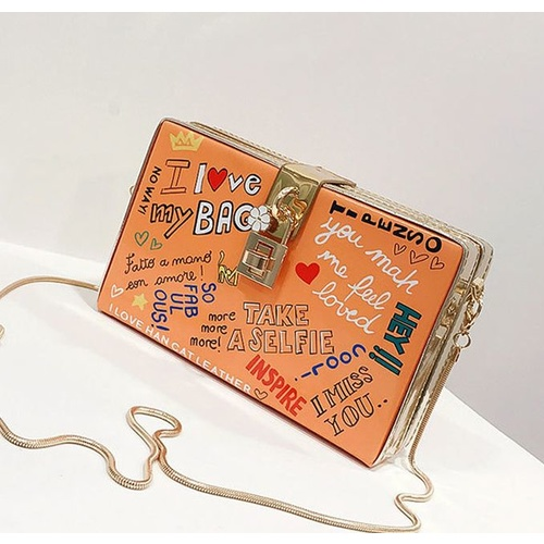 Clutch/Box/Graffiti - Orange