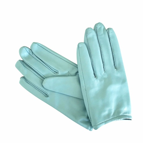 Gloves/Leather/Full - Blue