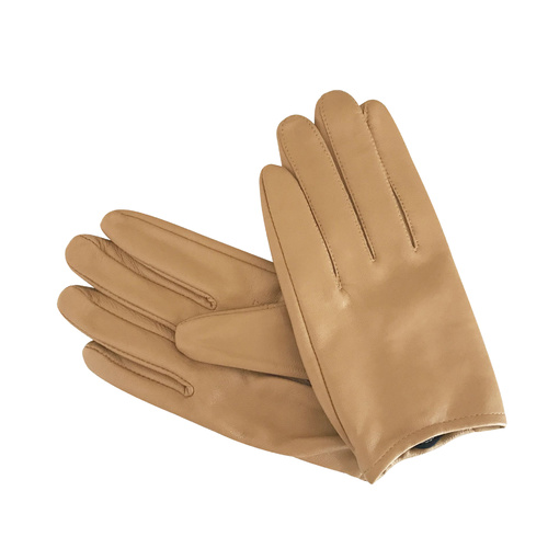 Gloves/Leather/Full - Caramel