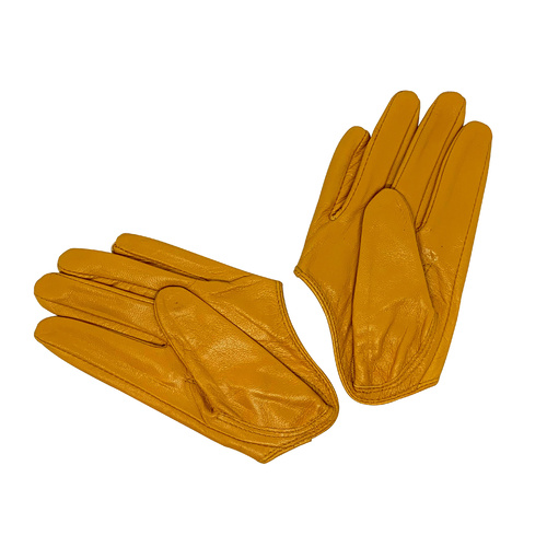 Gloves/Driving/Leather - Mustard