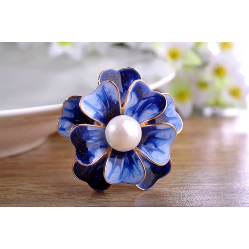 Brooch/Flower.02 - Blue