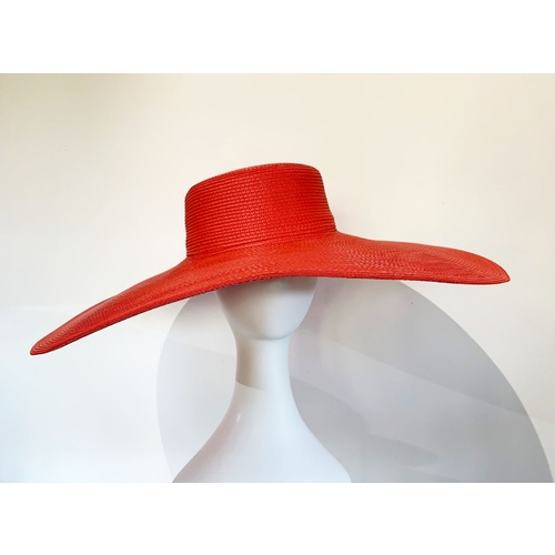 Hat/Bonnie - Bright Red