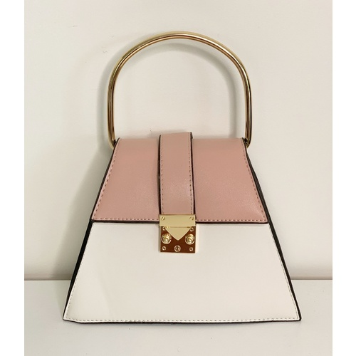 Bag/Bernice - Off White/Dusty Pink