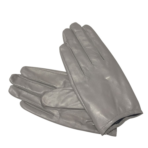 Gloves/Leather/Full - Grey