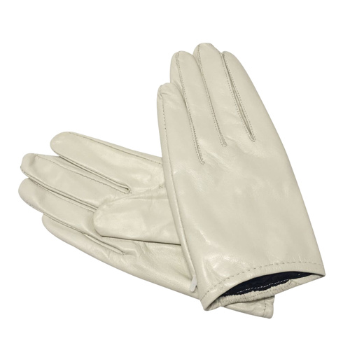 Gloves/Leather/Full - Ivory