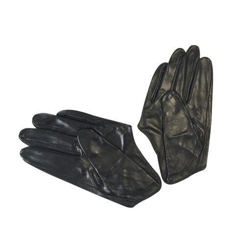 Gloves/Driving/Leather - Black