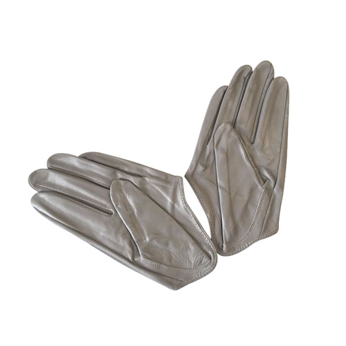 Gloves/Driving/Leather - Grey