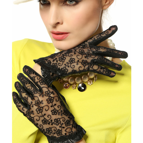Gloves/Leather/Style 3/Large - Black