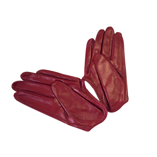 Gloves/Driving/Leather - Burgundy