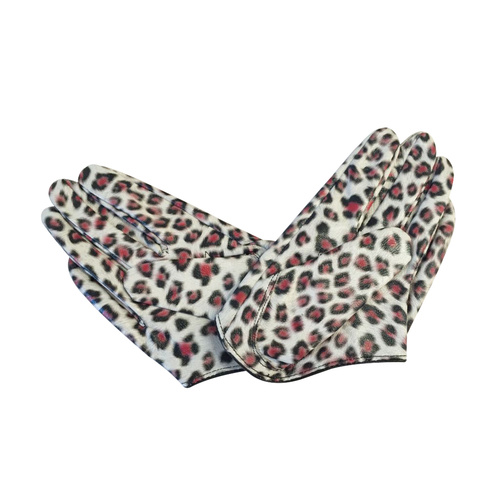 Gloves/Driving/Leather - Leopard.White [Size: Small (17cm)]