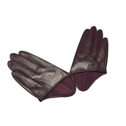 Gloves/Driving/Leather - Wine